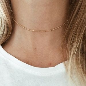Dainty Delicate Gold Choker Necklace